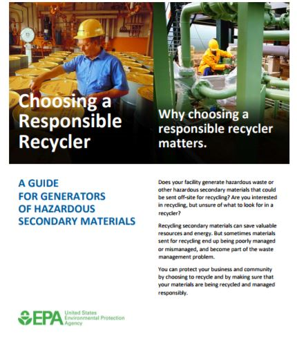 EPA Brochure on Choosing a Responsible Recycler