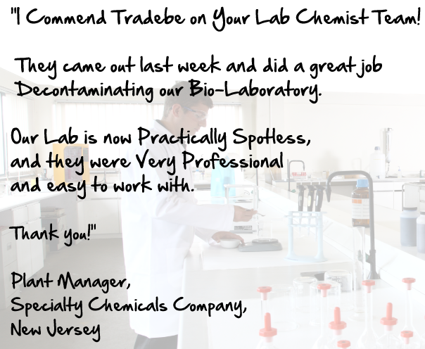 tradebe-chemist-team-client-testimonial-lab-decontamination