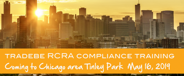 Tradebe Compliance RCRA Training in Chicago 2019